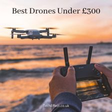 Featured image for a page reviewing the best drones under £300 on the UK market.